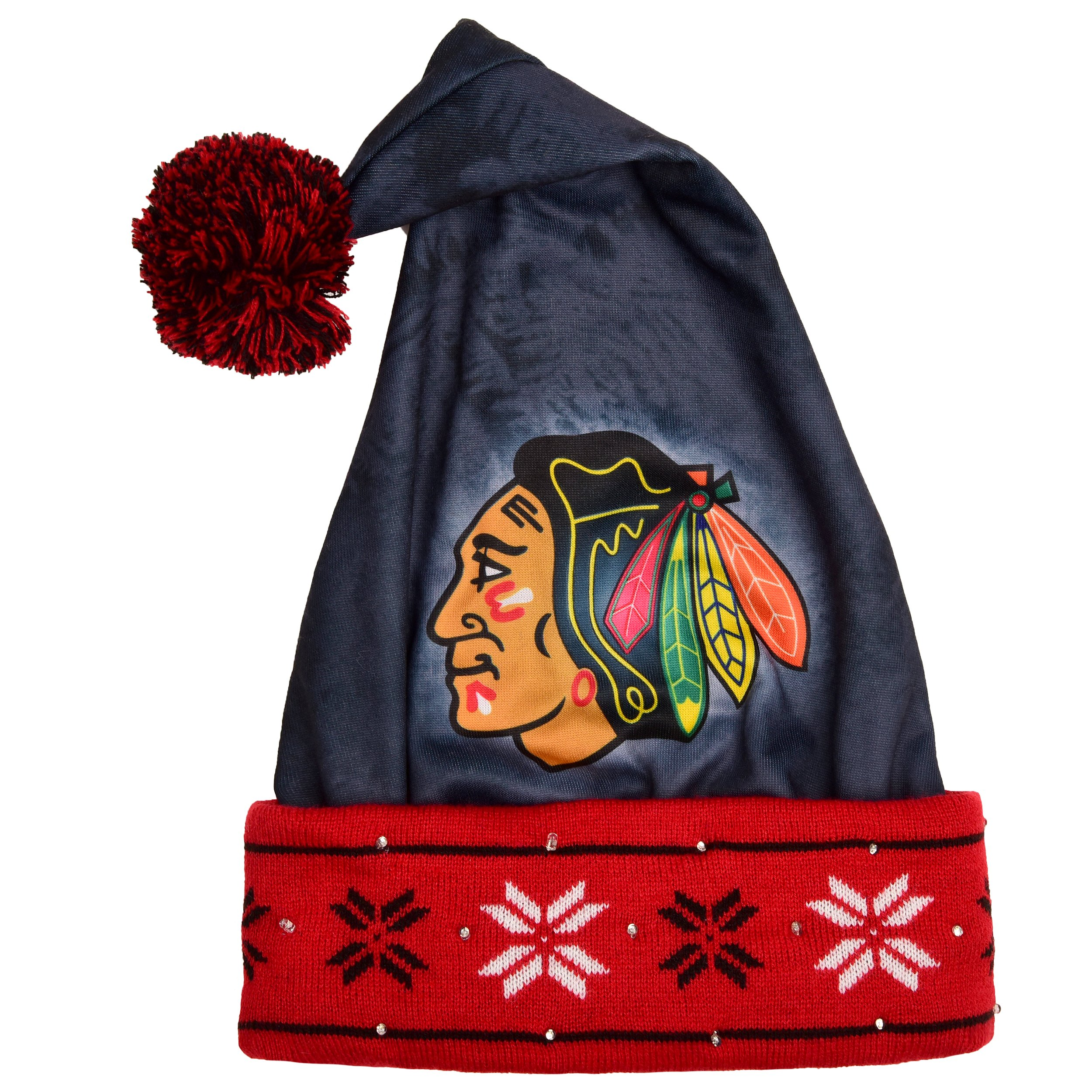 FOCO Chicago Blackhawks Light Up Santa Hat