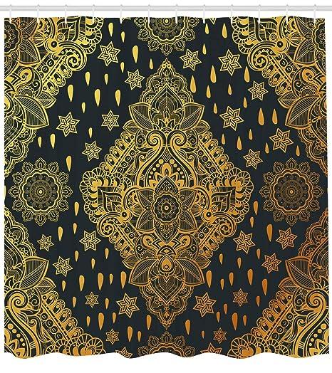 Augustus Shower Curtain Cortina de Ducha Mandala, diseño Bohemio ...