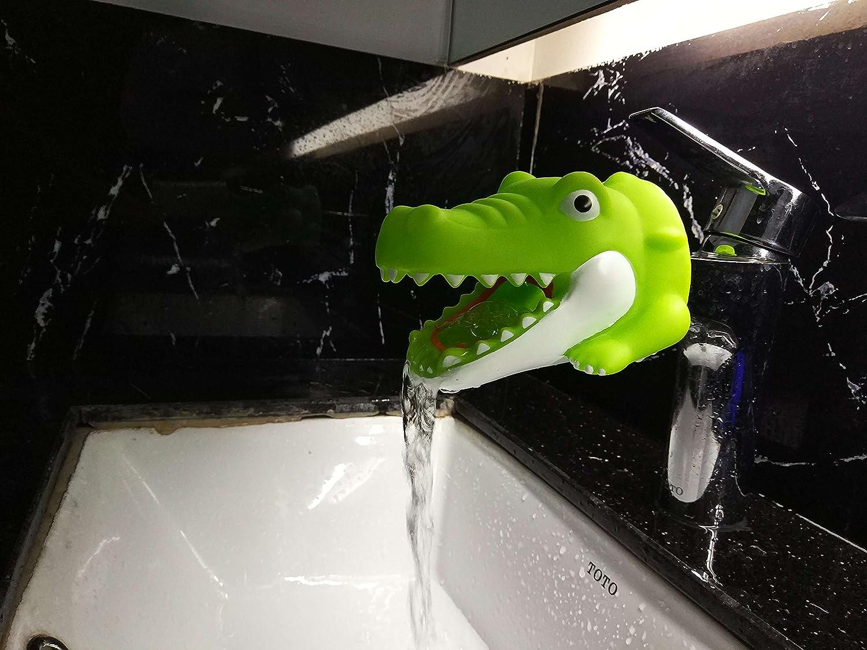 Amazon.com : TBW Crocodile Cute Character Faucet Extender Hand ...