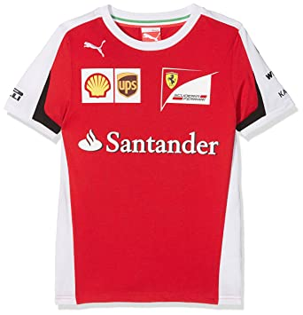 FERRARI F1 T-shirt-76166901 Camiseta, Red (76166901), 7-8: Amazon ...