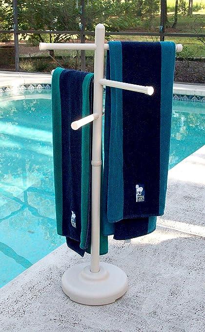 Amazoncom Outdoor Spa and Pool Towel Rack Bone Garden Outdoor