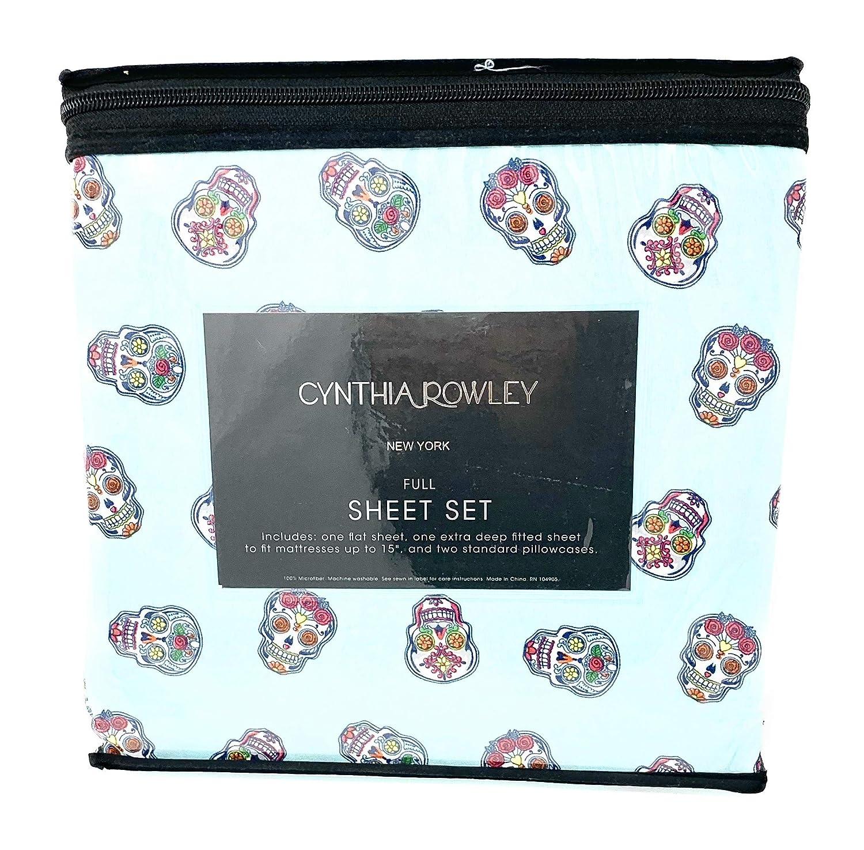 Cynthia Rowley Sugar Skull Sheet Set (Full)