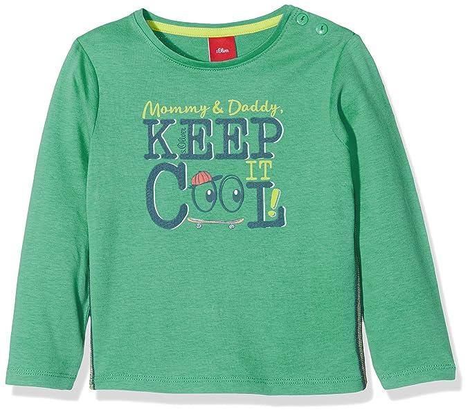 Oliver 65.801.31.7903, Camiseta de Manga Larga Unisex Bebé, Verde (