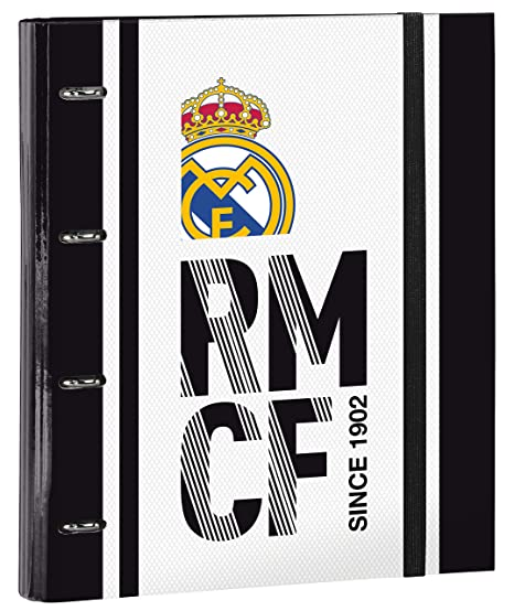 Real Madrid 511854666 2018 Estuches, 32 cm, Blanco
