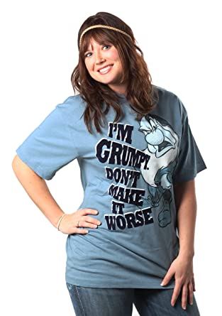 16807308 Amazon.com: Disney Women's Plus Size I'm Grumpy T-Shirt: Clothing