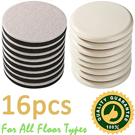 16 Pack Reusable Furniture Sliders For All Floor Types,8 Pack  3.5 In.