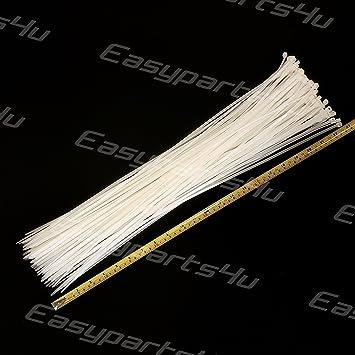 Kabelbinder Natur Weiß Nylon 10/50/100 Stück Set Kabelband ...