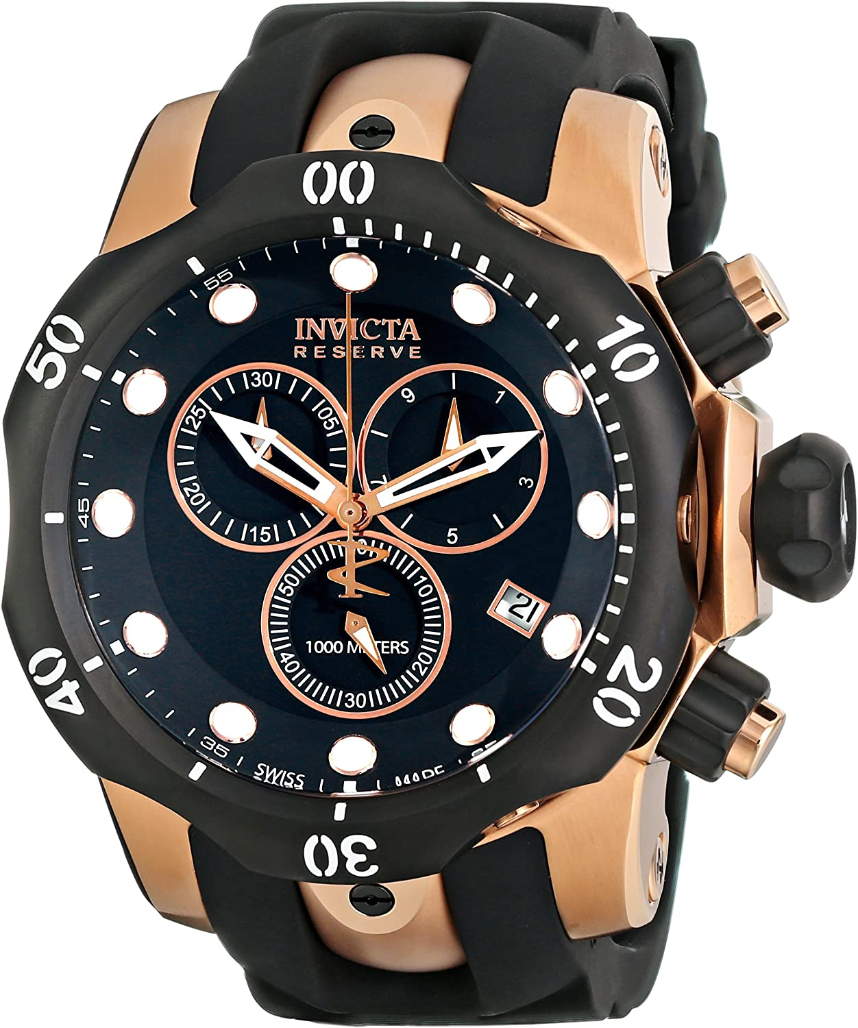 Invicta Men s 5733 Reserve Collection Rose Gold-Tone Chronograph Watch