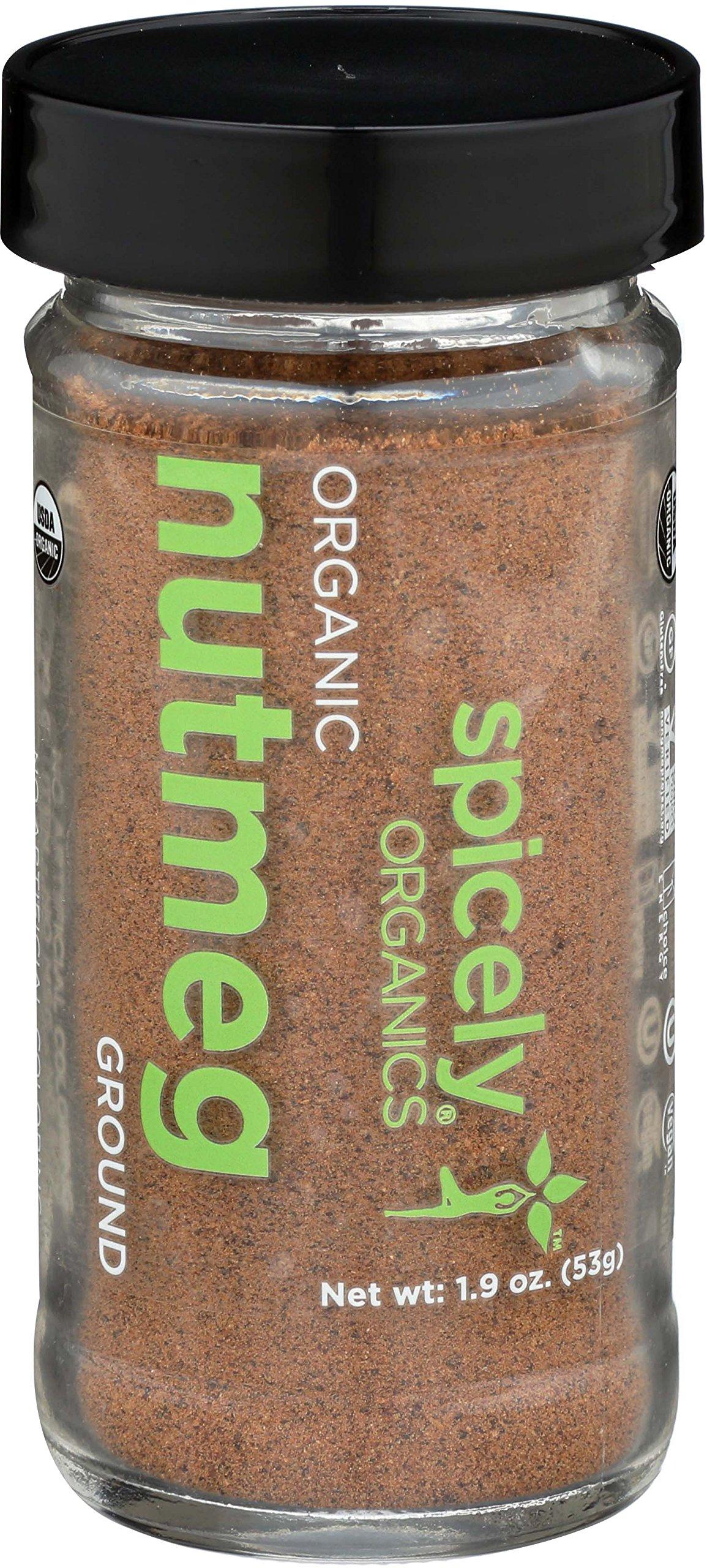SPICELY Jar Organic Nutmeg Ground, 1.9 OZ