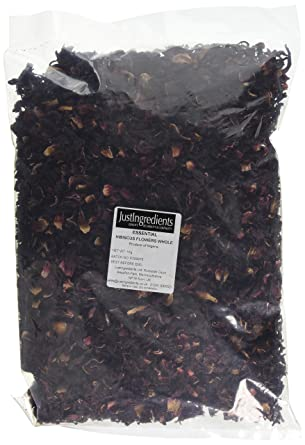 Justingredients Essentials Hibiscus Flowers Whole 1 Kg Amazoncouk