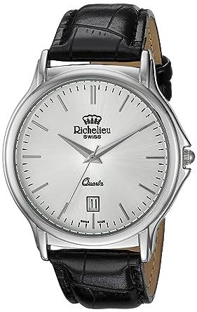 Image Unavailable. Image not available for. Colour  Richelieu Men s  Analogue Swiss-Quartz Watch ... 633445c1b727
