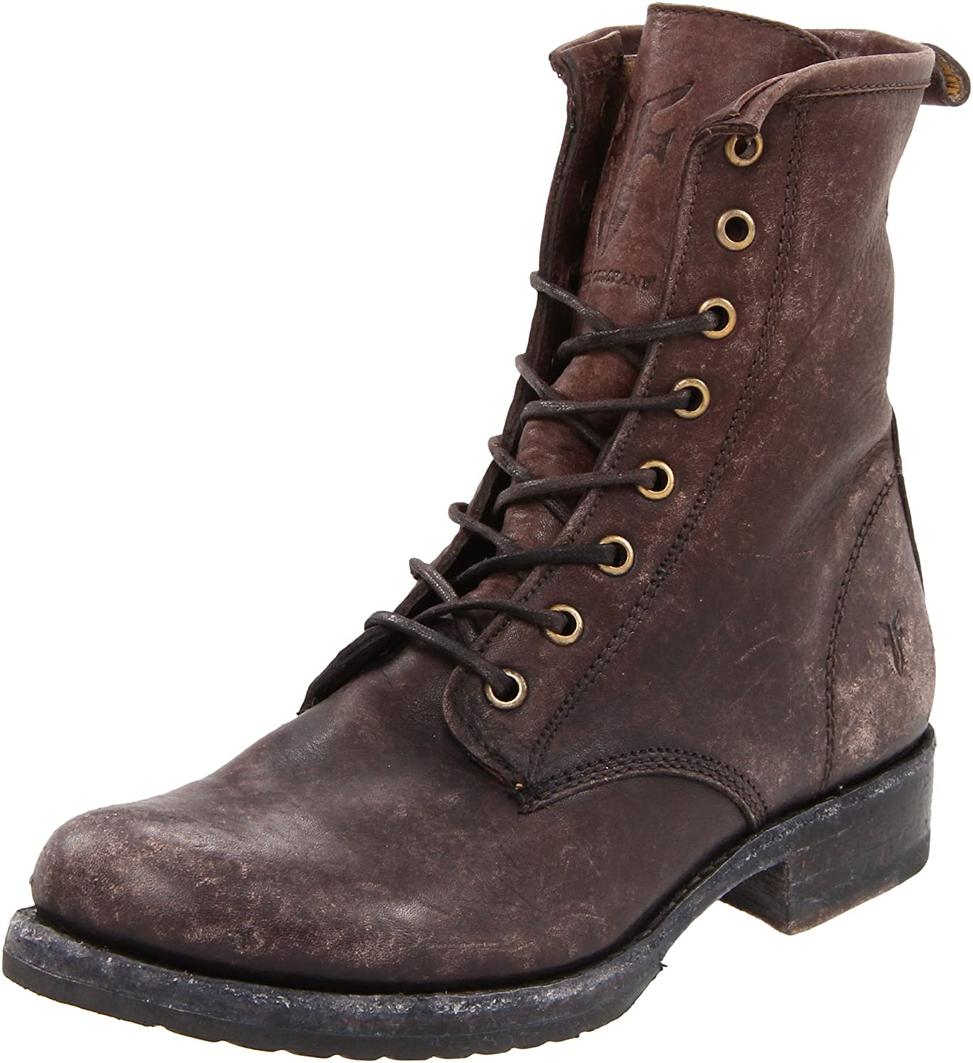 FRYE Women's Veronica Combat Boot B004OUVGNW 10 B(M) US|Dark Brown Stone Washed-76272