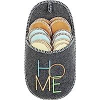 ONVAYA® Pantuflas para invitados ABS   gris   juego de 6   suela antideslizante   zapatillas de estar por casa…