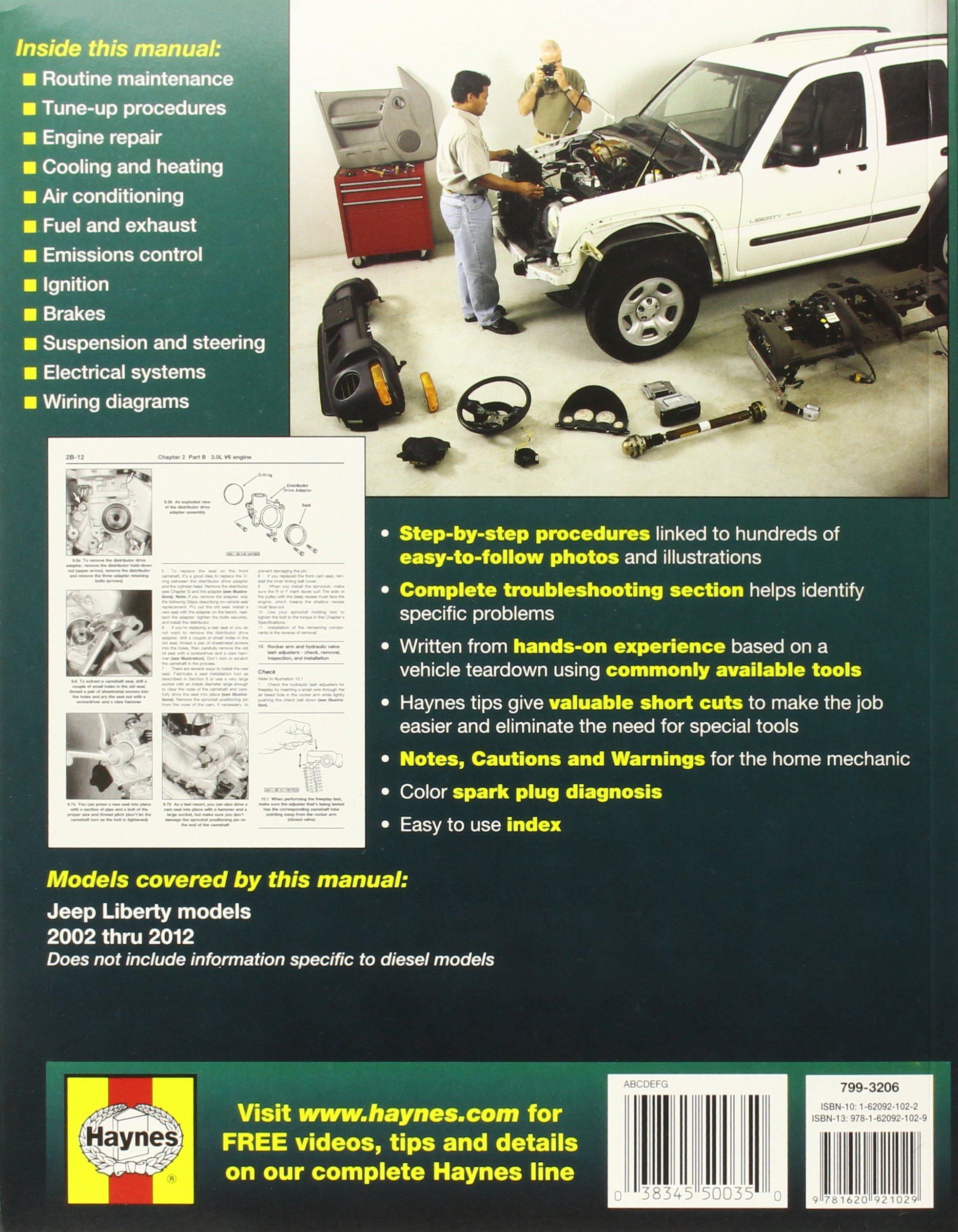 Jeep Liberty 2002 thru 2012: All gasoline models (Haynes Repair Manual):  Editors of Haynes Manuals: 9781620921029: Amazon.com: Books