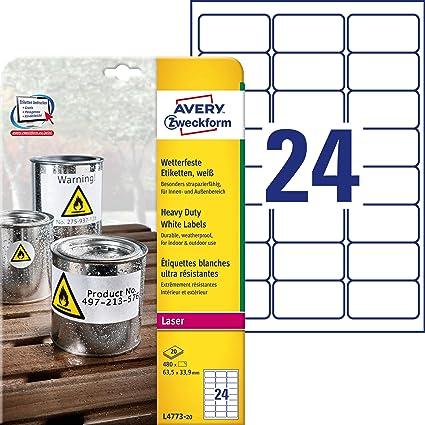 Folien Etiketten 63,5 x 33,9 transparent WETTERFEST  Outdoor Folie 63,5x33,9 A4