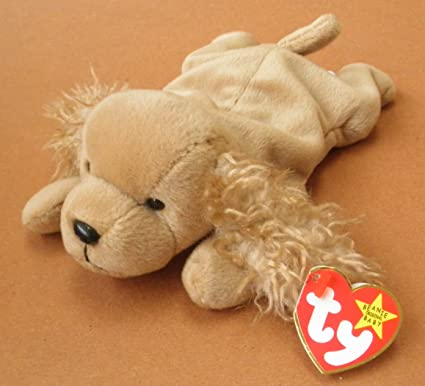 8907f4b79ca Amazon.com  TY Beanie Babies Spunky the Cocker Spaniel Dog Plush Toy  Stuffed Animal  Toys   Games