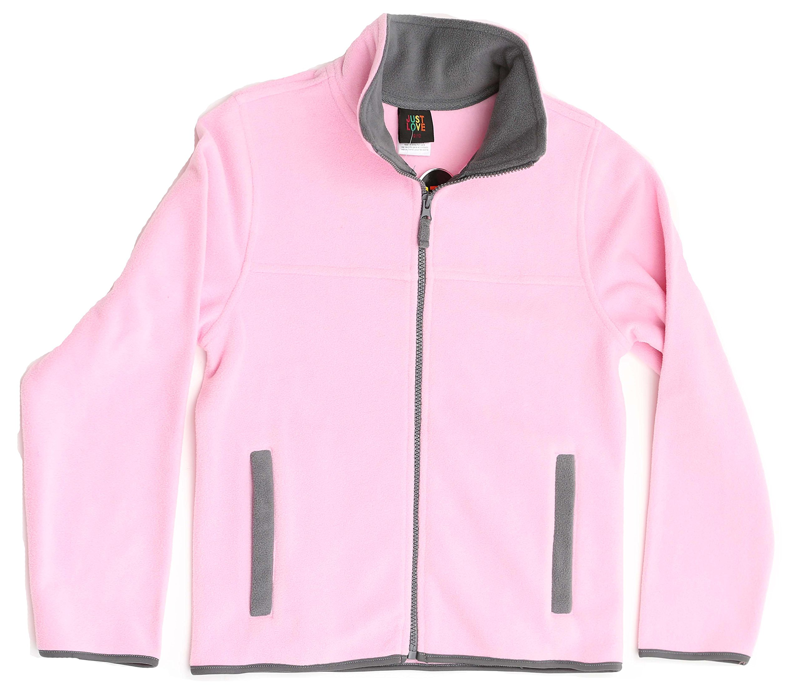 Just Love 98503-PNK-4-5 Solid Polar Fleece Girls Jacket