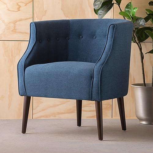 Christopher Knight Home Brandi Arm Chair, Navy Blue