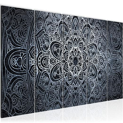 Bilder Mandala Abstrakt Wandbild 200 x 80 cm Vlies - Leinwand Bild ...