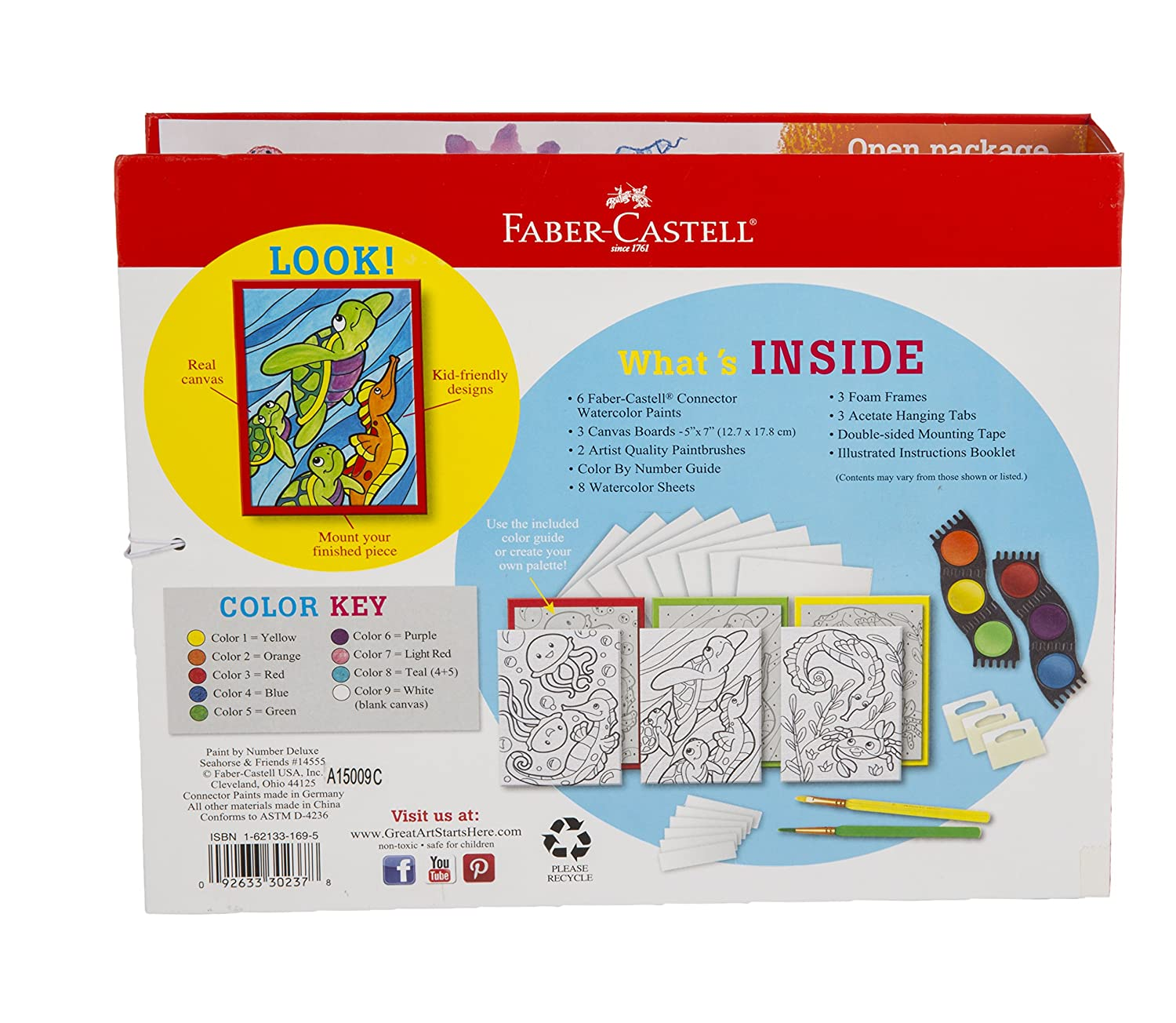 Amazon.com: Faber-Castel Paint by Number Deluxe Sea Horse Kit: Arts ...