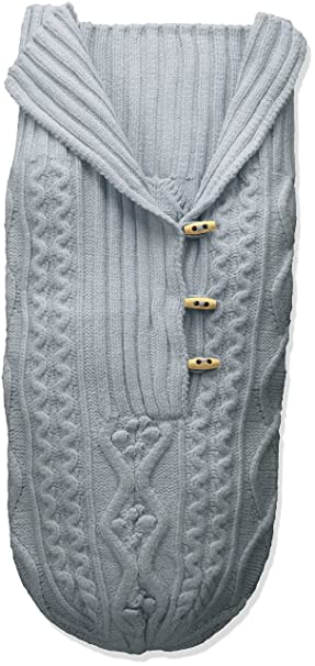2d9a39b48f9 Toby   Company Baby Nygb Cable Knit Button Down Snuggle Sack