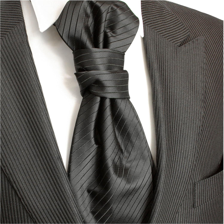 Paul Malone Boda negro uni Plastron boda moda para hombres: Amazon ...