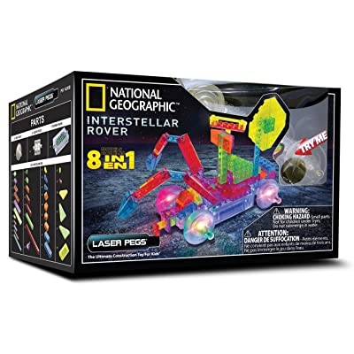 Laser Pegs National Geographic Interstellar Rover Kit: Toys & Games [5Bkhe1201333]