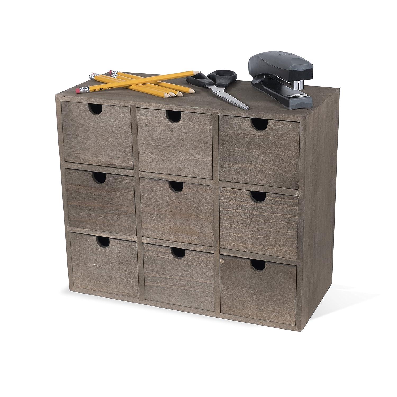 Amazon.com: Glosmaison - Organizador de escritorio de madera ...