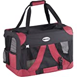 Milo & Misty Fabric Pet Carrier - Lightweight Travel Seat for Dogs, Cats, Puppies - Made of Waterproof Nylon and a Durable Steel Frame - Small (49.5 x 35 x 34.5cm)