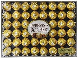 Ferrero Rocher Hazelnut Chocolates, 48 Count - Valentine's Day Gifts for Girlfriend