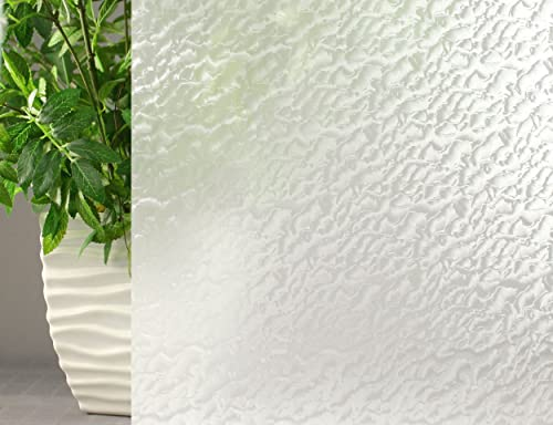 White Frosted Privacy, Decorative, Privacy, Static Cling Window Film 36 X 15 Ft