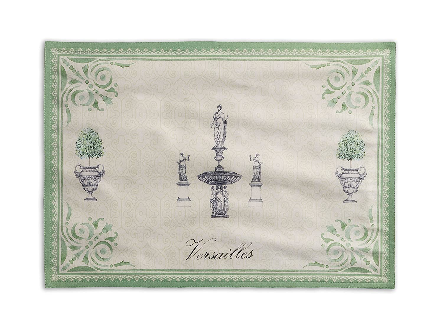 Jardin du Roy French Hand Painted Cotton Placemats Set of 2 - ChristmasTablescapeDecor.com