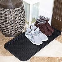Ottomanson TRY400-30X15 Multi-Purpose Indoor & Outdoor Waterproof Tray, 15″ x 30