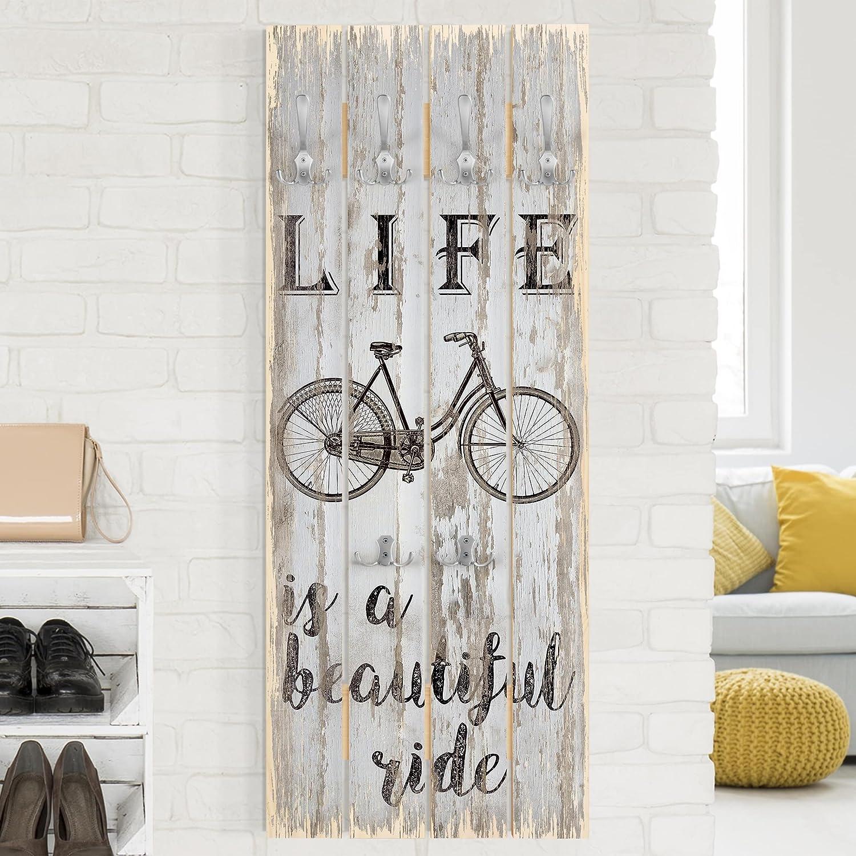 Bilderwelten Perchero de Madera - Beautiful Ride - Ganchos ...