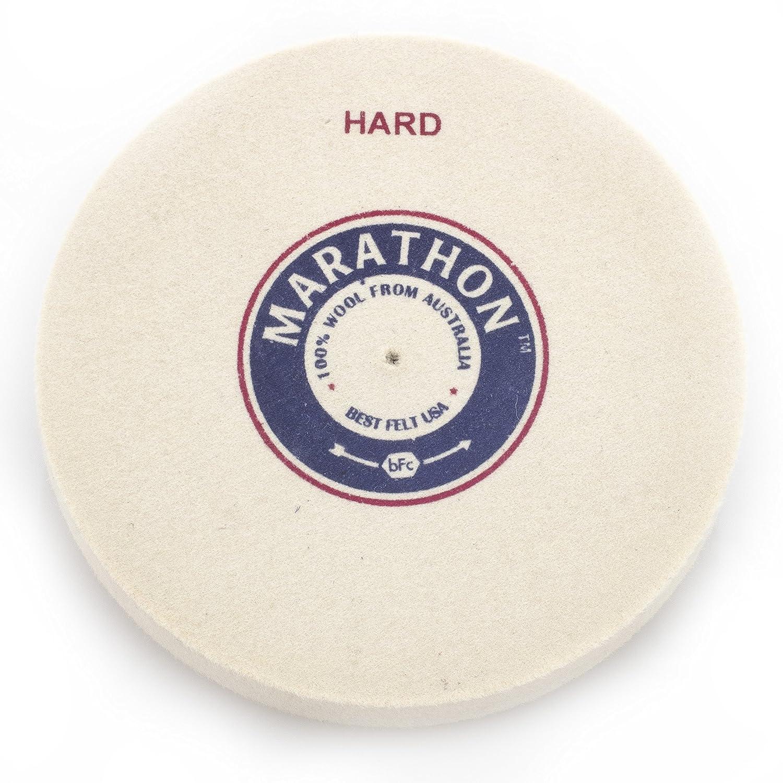 Marathon 4 x 1/2 Felt Polishing Wheel, Hard Density, 1/8 Arbor Hole 1/8 Arbor Hole Best Felt USA