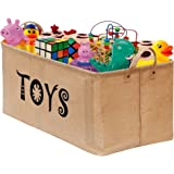 "Gimars Newest Well Standing 22x12x11"" Toy Chest Baskets Storage Bins for Dog Toys, Kids & Children Toys, Blankets, Clothes - Perfect for Playroom & Shelves"