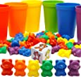 Rainbow Counting Bears with Sorting Cups and Dice - 60pc Set