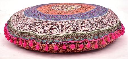 Cuscini Rotondi Grandi.Handicraft Palace Mandala Federe Cuscini Rotondi Grandi Da 81 3 Cm