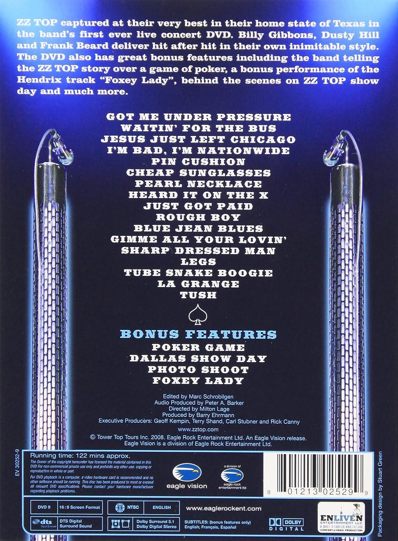 Amazon Com Zz Top Live From Texas Frank Beard Billy Gibbons Dusty Hill Rick Siegel Milton Lage Marc Schrobilgen Barry Ehrmann Carl Stubner Geoff Kempin Rick Canny Terry Shand Movies Tv
