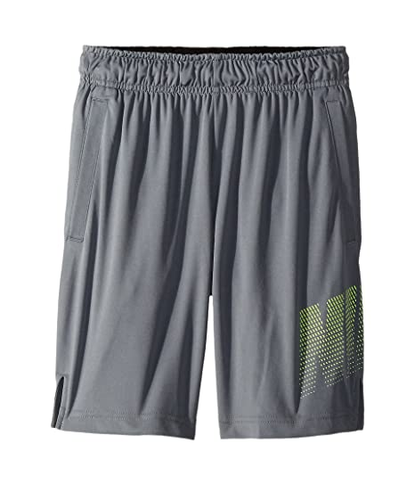 47a608e61f0a NIKE Boy`s Dry 8 quot  Graphic Training Shorts (Cool Grey(858256-