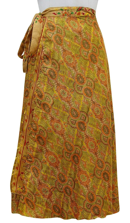 Indianbeautifulart Sari Vendimia de Las Mujeres del Abrigo del Vestido Maxi Hippie Reversible: Amazon.es: Ropa y accesorios