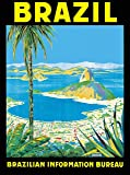 A SLICE IN TIME Brazil Rio de Janeiro Brazilian Information Bureau South America Vintage Travel Advertisement Art Collectible Wall Decor Poster Print. Poster Measures 10 x 13.5 inches.