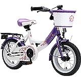 BIKESTAR® Premium Vélo pour enfants à partir d'env. 3 ★ Edition Classic 12 ★ Couleur Lilas & Blanc