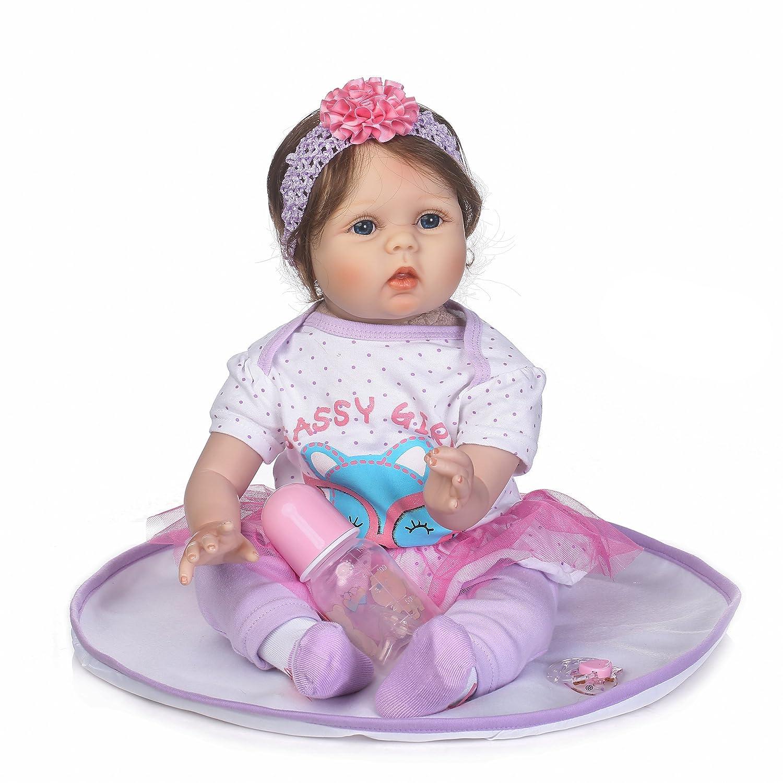 Amazon.com: Muñecas de bebé reborn de vinilo suave realista ...