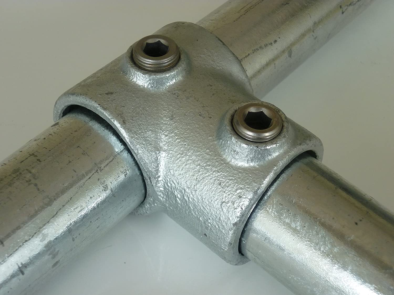 vis Raccord en T pour B /& T Tube en m/étal court T101//Ø 33,7/mm 1 Fonte mall/éable vollbadverzinkt thermique