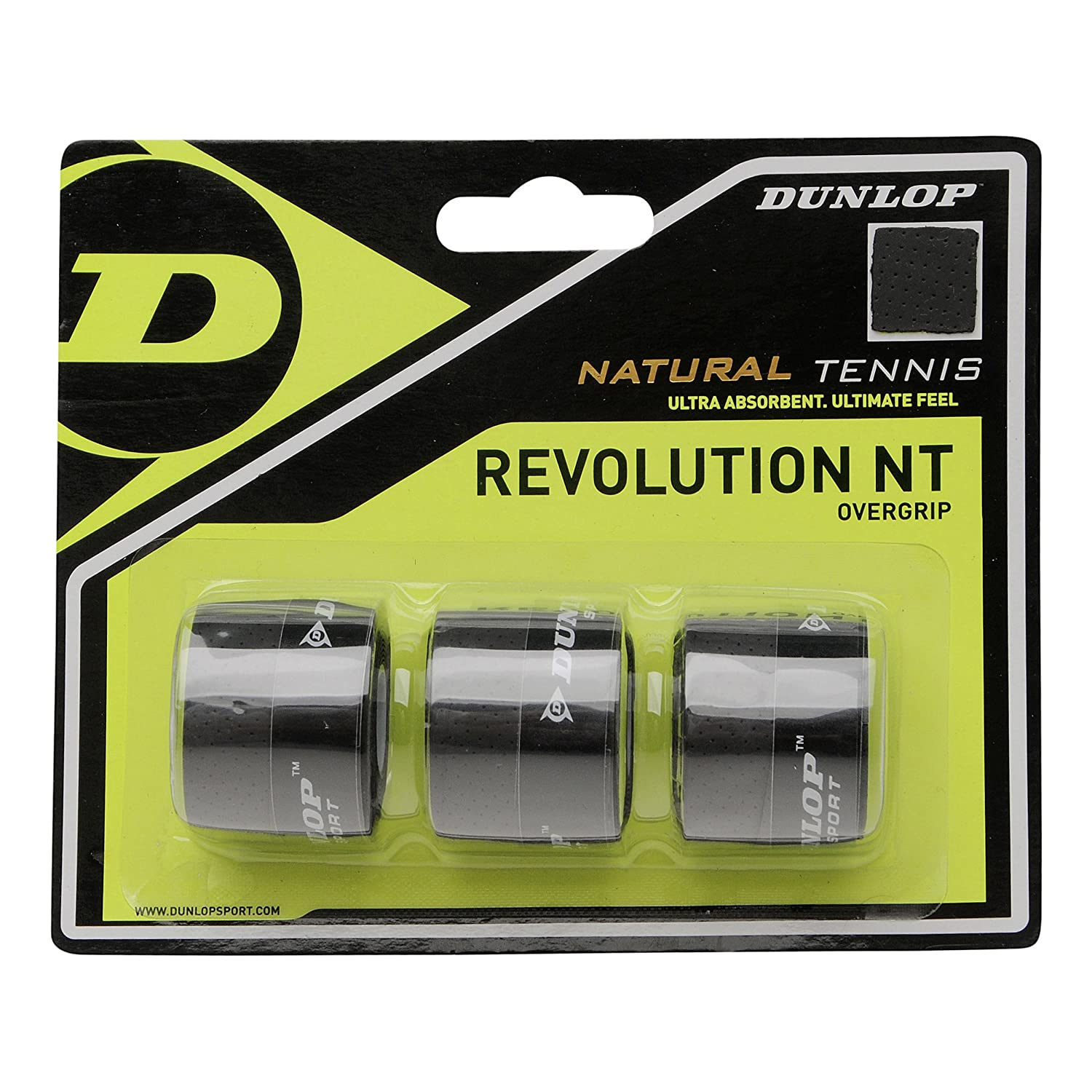 DUNLOP Over Grip Revolution NT 3 Unidades, Negro, One Size, 613238 ...
