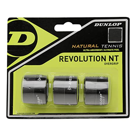 DUNLOP Over Grip Revolution NT 3 Unidades, Negro, One Size ...