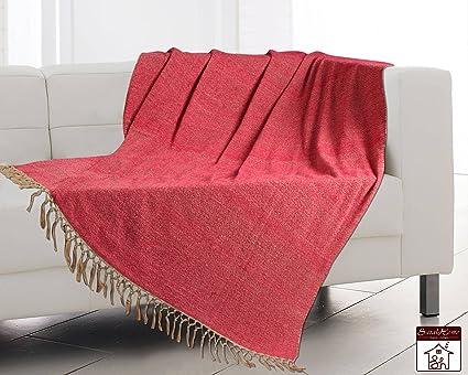 Saral Home Soft Cotton Handloom Sofa Covers Throw 125x150 Cm Dk