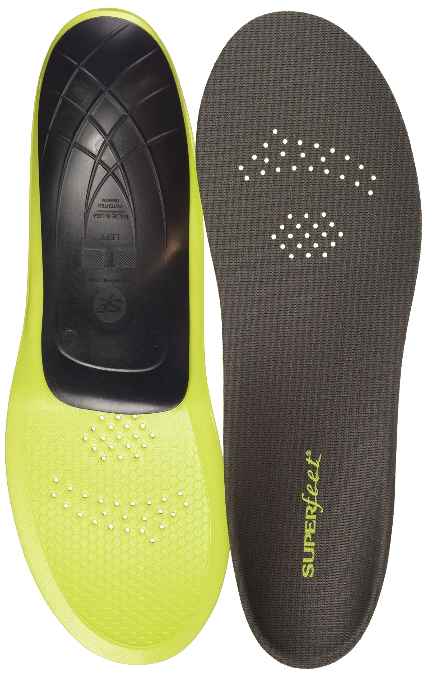 Superfeet CARBON, Sport Shoe Carbon Fiber Performance Thin Insoles, Unisex, Gray, X-Small/4.5-6 Wmns/2.5-4 Juniors by Superfeet