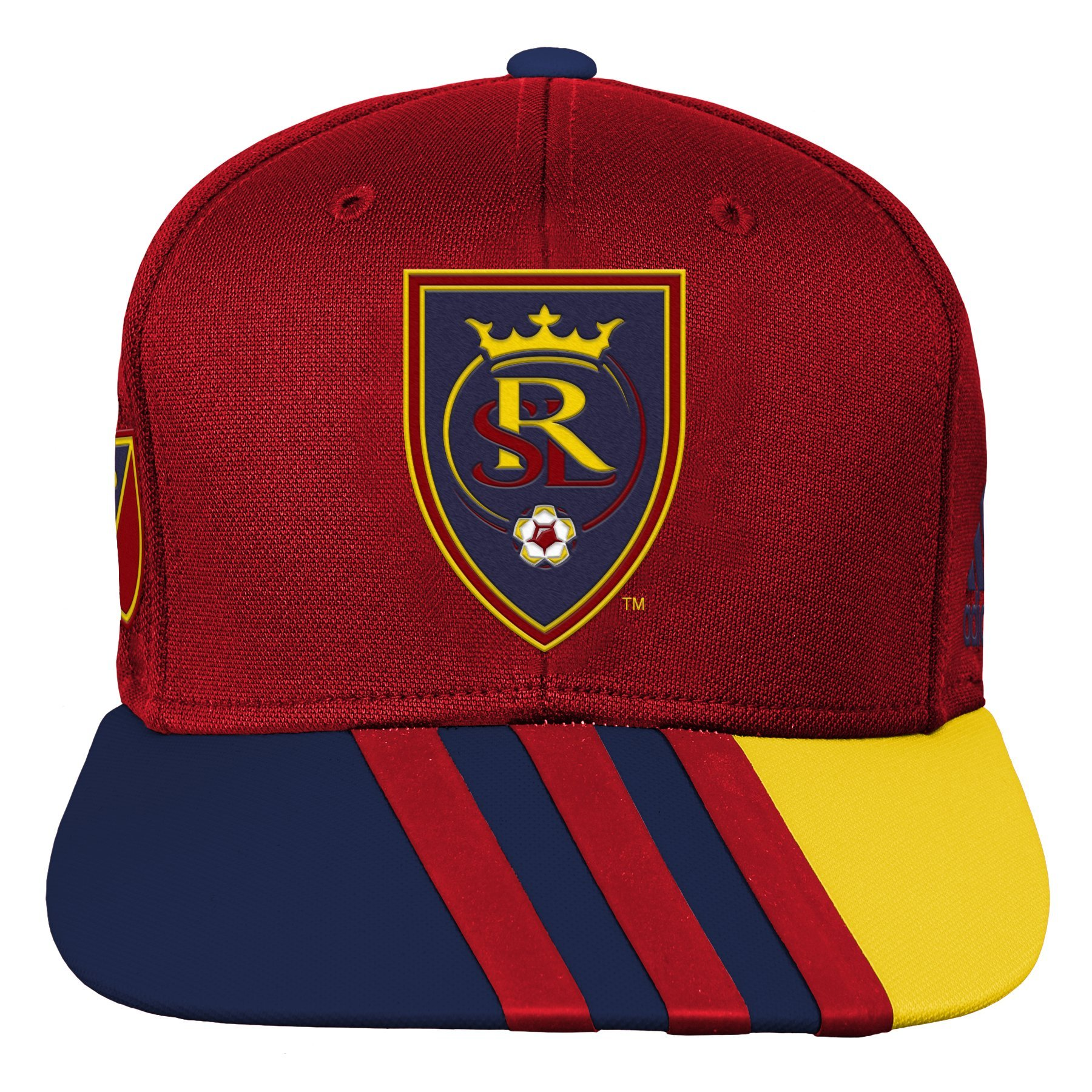 Outerstuff MLS Real Salt Lake R S8FMK Youth Boys Flatbrim Snapback, One Size (8), Crimson Red